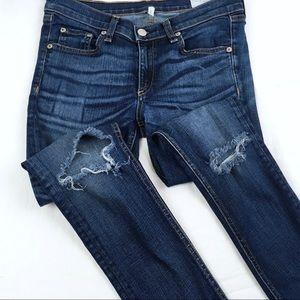 Rag+Bone Hampstead Distressed Denim Skinny Jeans